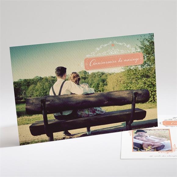 Invitation anniversaire de mariage Photo et raffinement réf.N14162