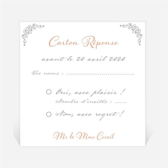 Carton réponse anniversaire de mariage Photo et raffinement réf.N300491