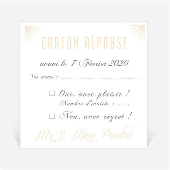 Carton réponse anniversaire de mariage Carte Chic et tendance réf.N300494