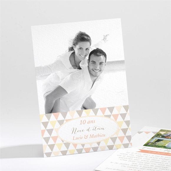 Invitation anniversaire de mariage Motifs geometriques photo réf.N21183