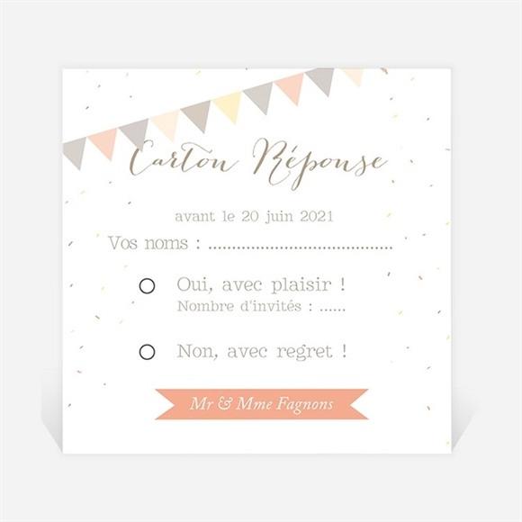Carton réponse anniversaire de mariage Motifs geometriques photo réf.N300493