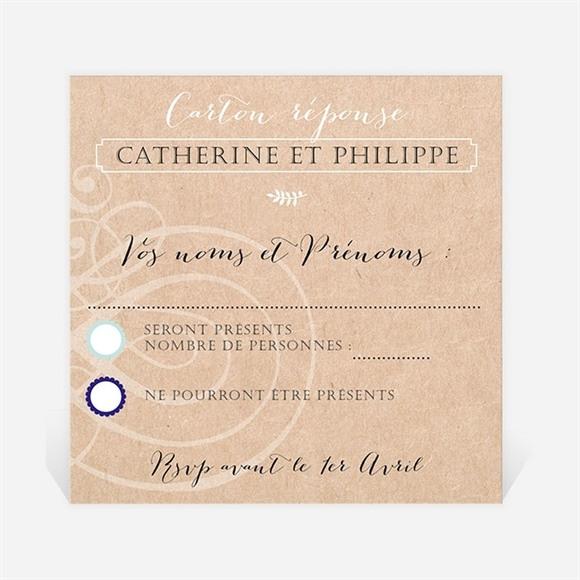 Carton réponse anniversaire de mariage Kraft à gratter! réf.N300495