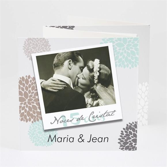 Invitation anniversaire de mariage Noces de Cristal réf.N83027