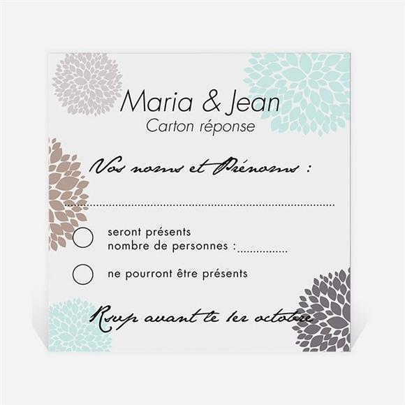 Carton réponse anniversaire de mariage Noces de Cristal réf.N300497