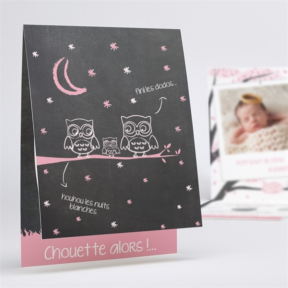 Faire-part naissance Chouette surprise réf.N50159