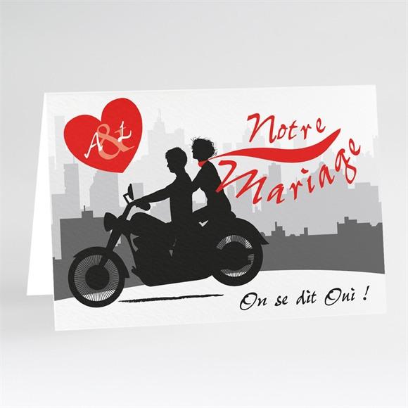 Faire-part mariage Romantisme à moto réf.N401517