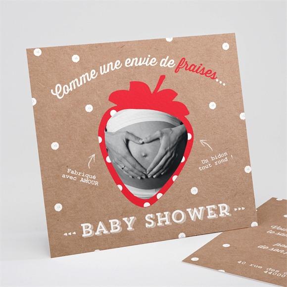 Faire-part baby shower Envie de fraises réf.N311139