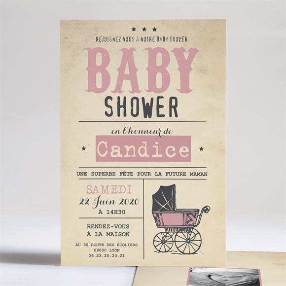 Faire-part baby shower Entre copines réf.N24189