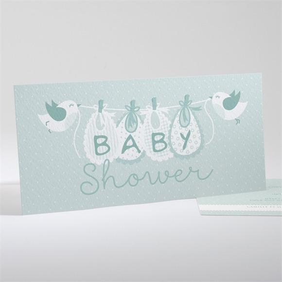 Faire-part baby shower Mon bout'chou réf.N13139