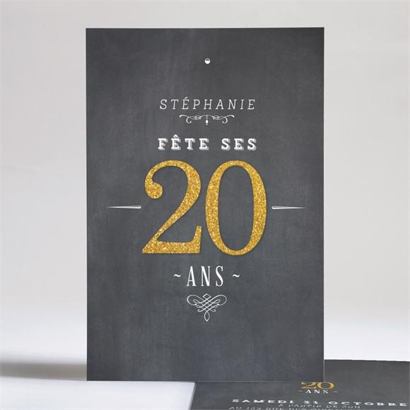 Invitation anniversaire Fêtons mes 20 ans réf.N24196