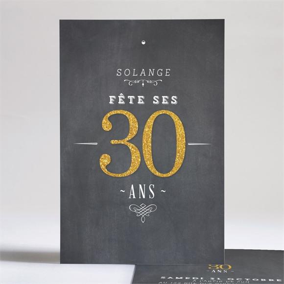 Invitation anniversaire Fêtons mes 30 ans réf.N24197