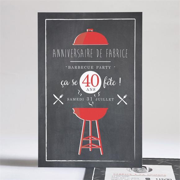 Invitation anniversaire 40 ans ensemble réf.N241101