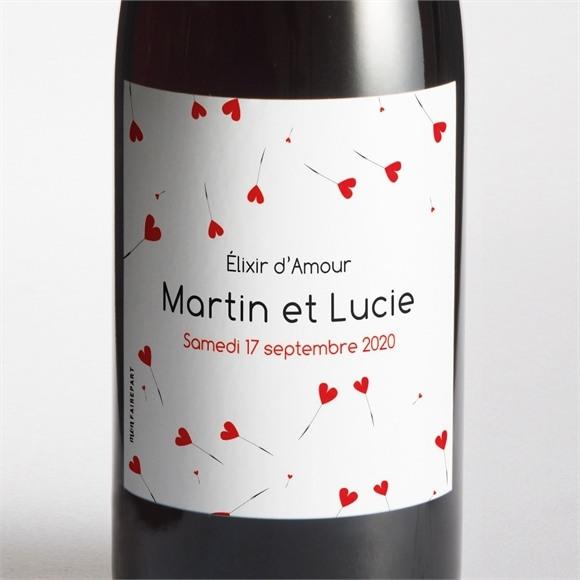 Etiquette de bouteille mariage Un Oui en photo réf.N300504