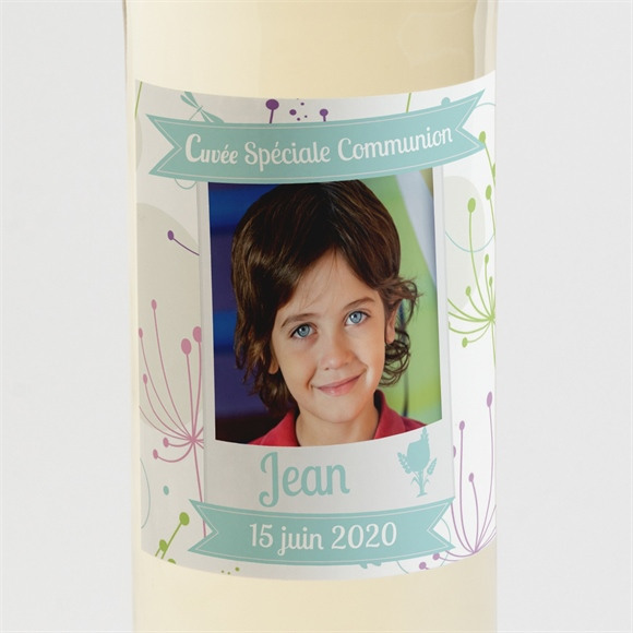 Etiquette de bouteille communion Communion champêtre réf.N300509