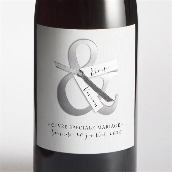 Etiquette de bouteille mariage Esperluette et étiquettes réf.N300512