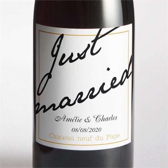 Etiquette de bouteille mariage réf. N300526 réf.N300526