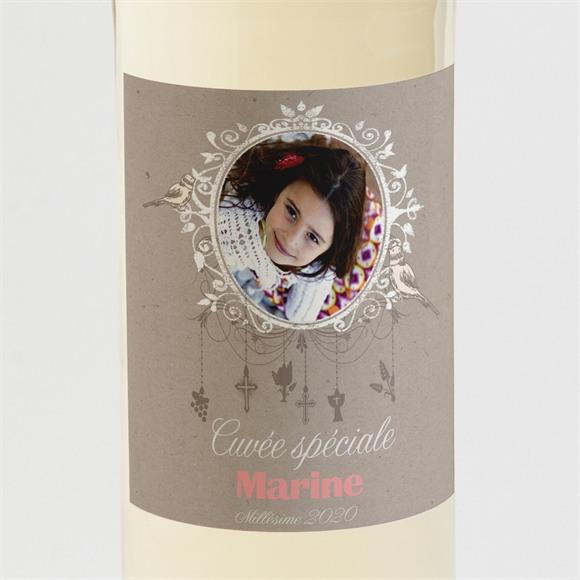 Etiquette de bouteille communion Jolie annonce réf.N300528