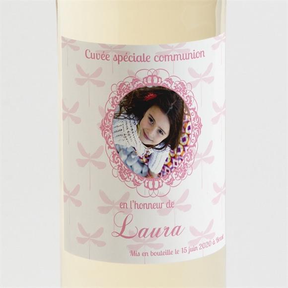 Etiquette de bouteille communion Laura réf.N300530