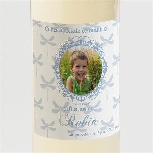 Etiquette de bouteille communion Libellules baroques réf.N300529