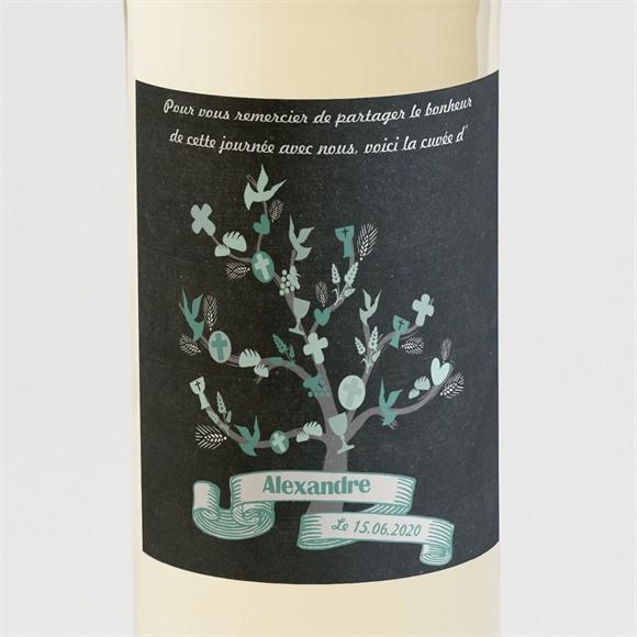Etiquette de bouteille communion Sacrement élégant réf.N300532