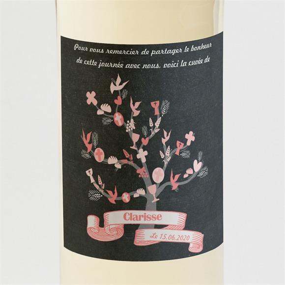 Etiquette de bouteille communion Etape chrétienne réf.N300533