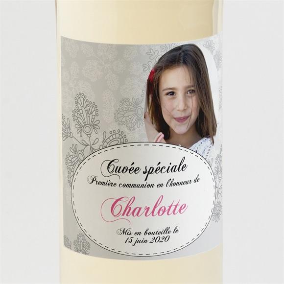 Etiquette de bouteille communion Double face avec photo réf.N300536