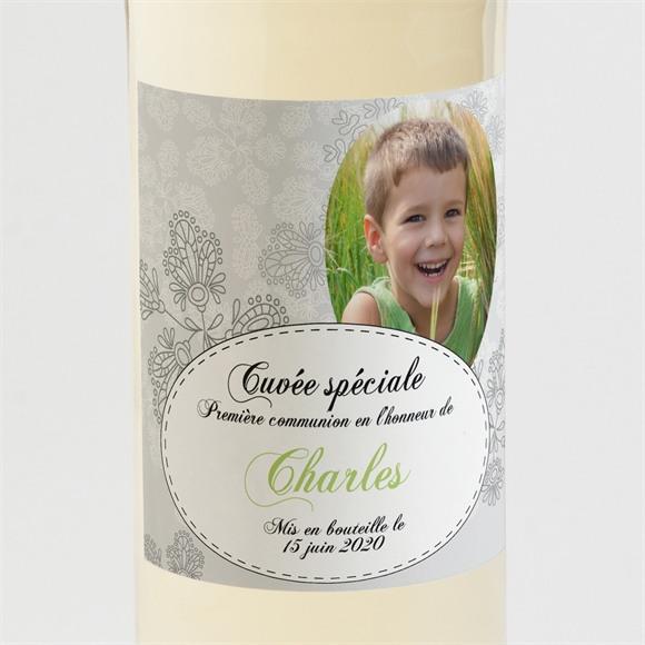 Etiquette de bouteille communion Chevalet original réf.N300535