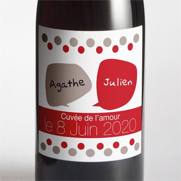 Etiquette de bouteille mariage Humour original réf.N300537