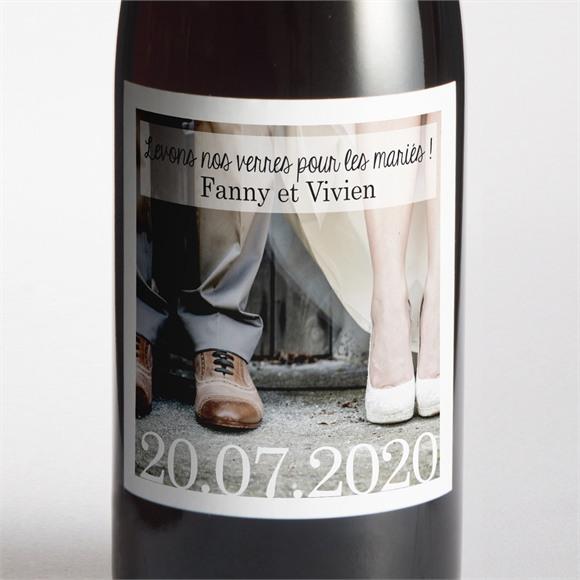 Etiquette de bouteille mariage réf. N300538 réf.N300538