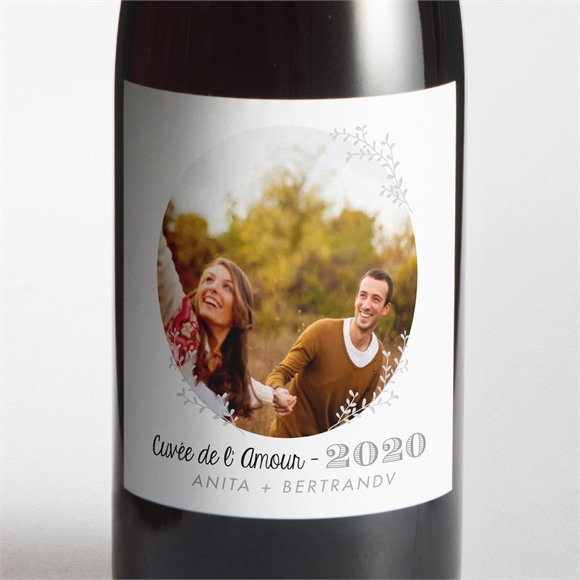 Etiquette de bouteille mariage réf. N300540 réf.N300540