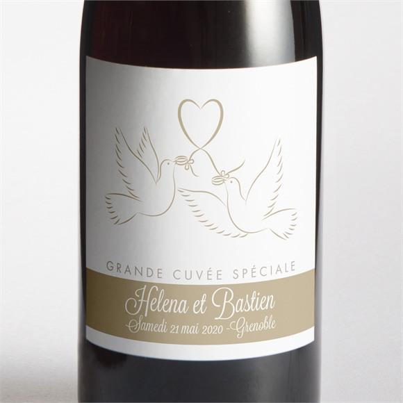 Etiquette de bouteille mariage réf. N300541 réf.N300541