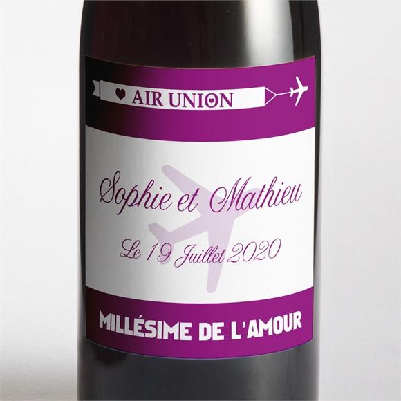 Etiquette de bouteille mariage Air Union réf.N300545
