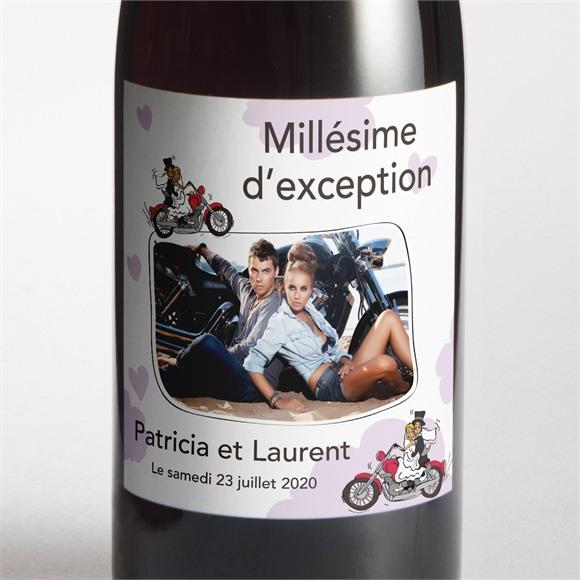 Etiquette de bouteille mariage Sur la route du bonheur réf.N300548