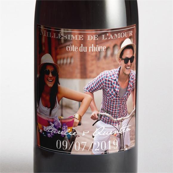 Etiquette de bouteille mariage réf. N300549 réf.N300549
