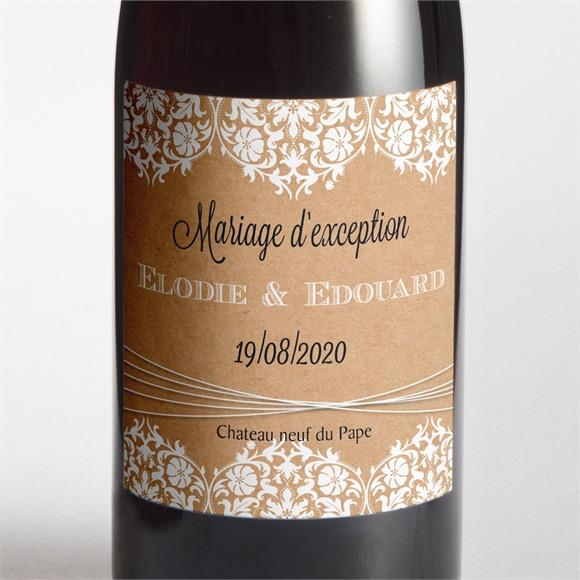 Etiquette de bouteille mariage réf. N300558 réf.N300558