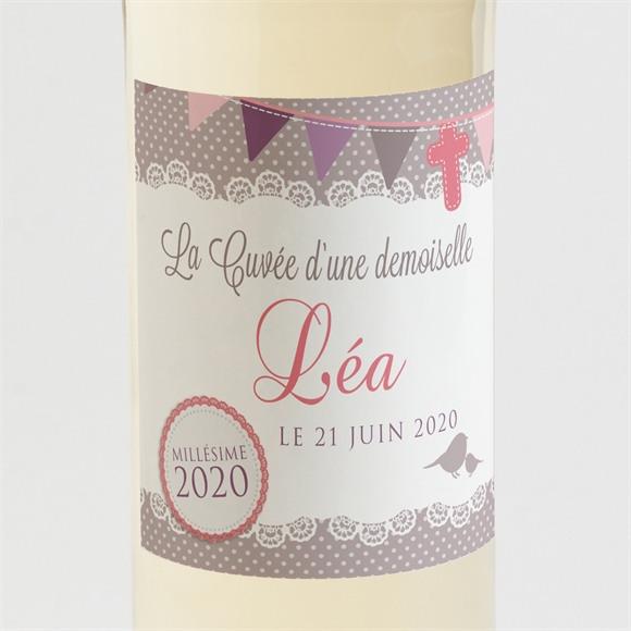 Etiquette de bouteille baptême Rondeur et douceur! réf.N300523