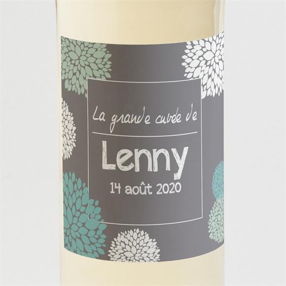 Etiquette de bouteille naissance Mon Elegant faire part réf.N300562