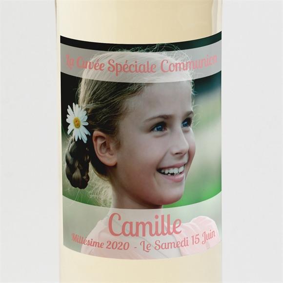 Etiquette de bouteille communion Beauté naturelle réf.N300565