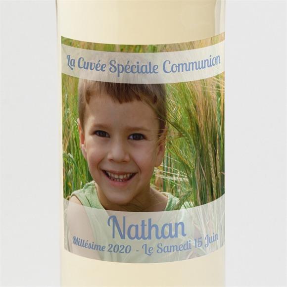 Etiquette de bouteille communion Original recto verso réf.N300566