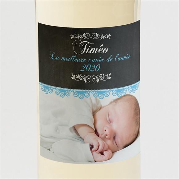 Etiquette de bouteille naissance Design vintage ardoise réf.N300569