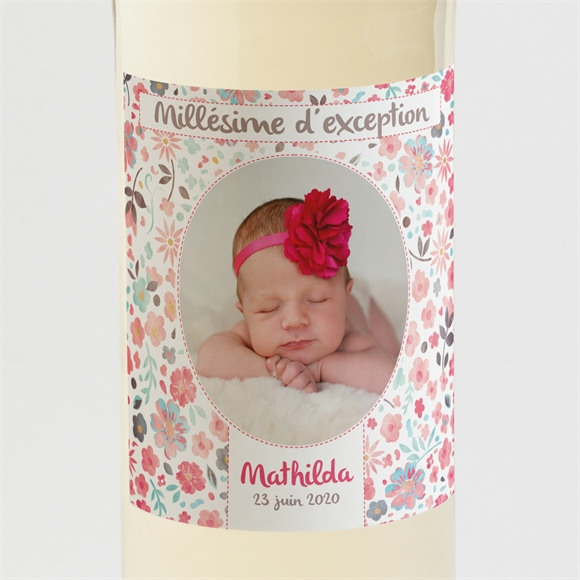 Etiquette de bouteille naissance Mon petit chou ! réf.N300573