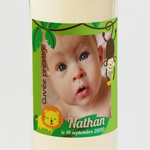 Etiquette de bouteille naissance Notre Petit Singe réf.N300582