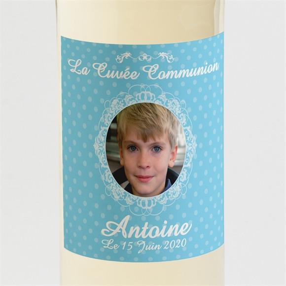 Etiquette de bouteille communion Moderne et doux réf.N300597