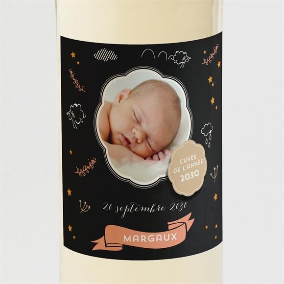 Etiquette de bouteille naissance Carte Noire réf.N300604
