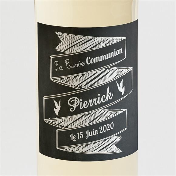 Etiquette de bouteille communion A la craie réf.N300606