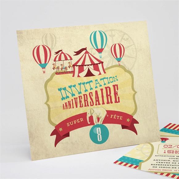 Invitation anniversaire L'anniversaire au cirque - monFairePart.com