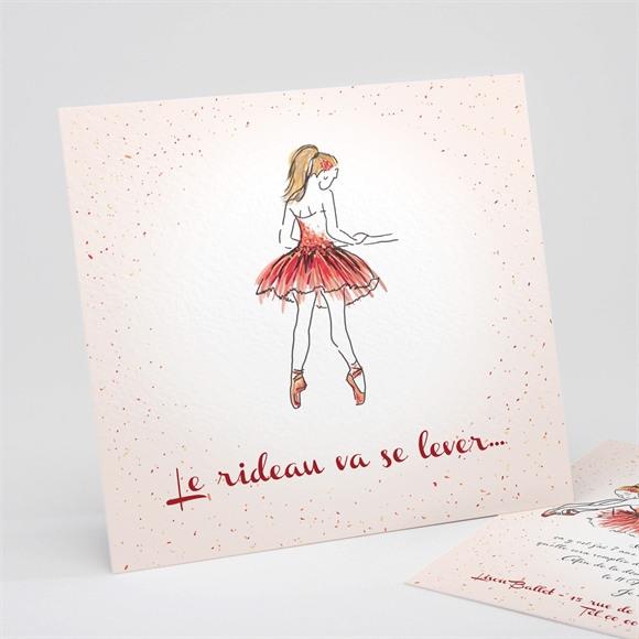Invitation anniversaire La danseuse et ses copines réf.N311141