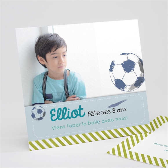 Invitation anniversaire Football photo réf.N311142