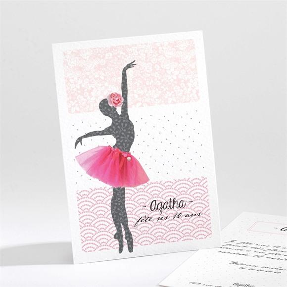 Invitation anniversaire Notre petite danseuse réf.N21187