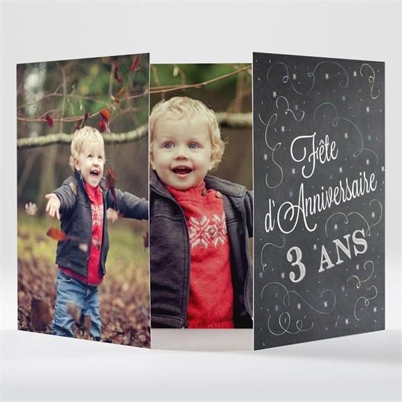 Invitation anniversaire Guirlande et cotillons réf.N70157